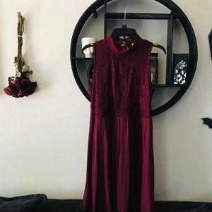 Xhiliration Maroon Dress